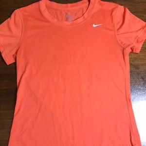 Nike dri-fit orange t shirt size small